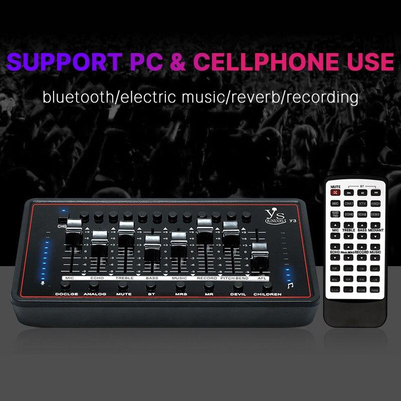 Tarjeta de sonido de micrófono bm 800 DJ Karaoke mezclador de sonido externo Phantom Power Audio Interface para bm800 micrófono de computadora de estudio