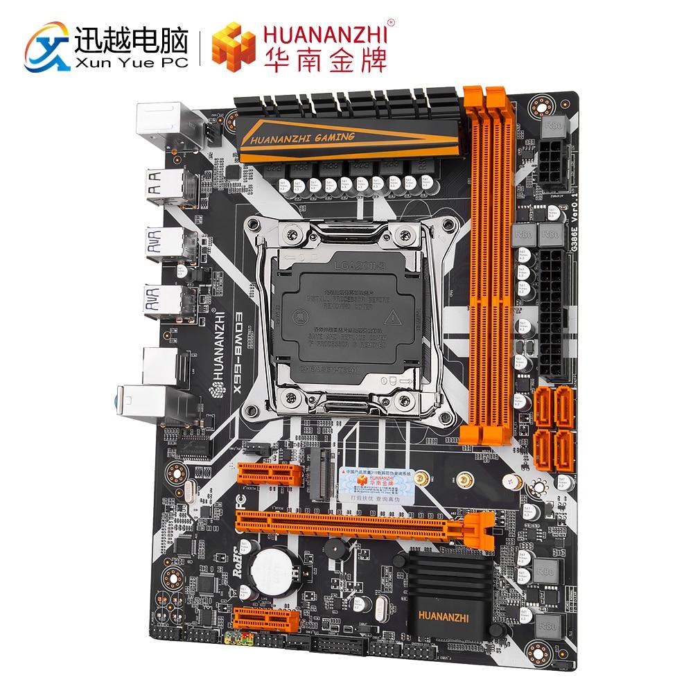 HUANANZHI X99-8MD3 de placa base Intel X99 LGA 2011-3 E5 V3 X99-8M DDR3 RECC 64GB M.2 NVME USB3.0 ATX