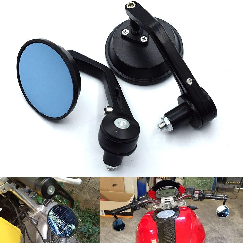 Espejo retrovisor Universal para motocicleta espejo retrovisor trasero 22 manillar para Kawasaki Z ZR ZX 125 250 750 750R 750S 800 1000 SX