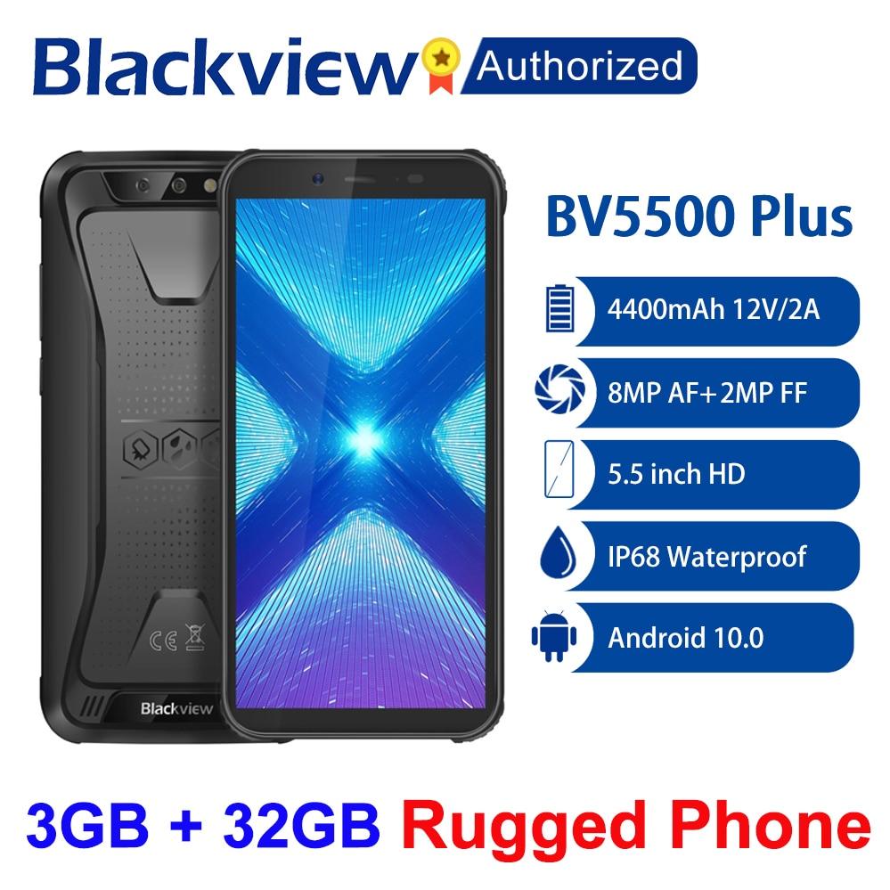 Перейти на Алиэкспресс и купить Blackview BV5500 плюс IP68 прочный телефон 5,5 дюймЭкран, 3 Гб оперативной памяти, Оперативная память 32GB Встроенная память Android 10 смартфон MT6739 4 ядра NFC OTG 4G м...