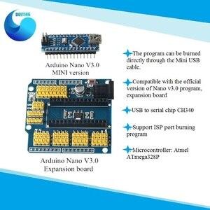 Плата расширения Arduino Nano V3.0 щит Atmel ATmega328P Nano 3,0 плата для разработки Nano IO Плата расширения для DIY/шасси