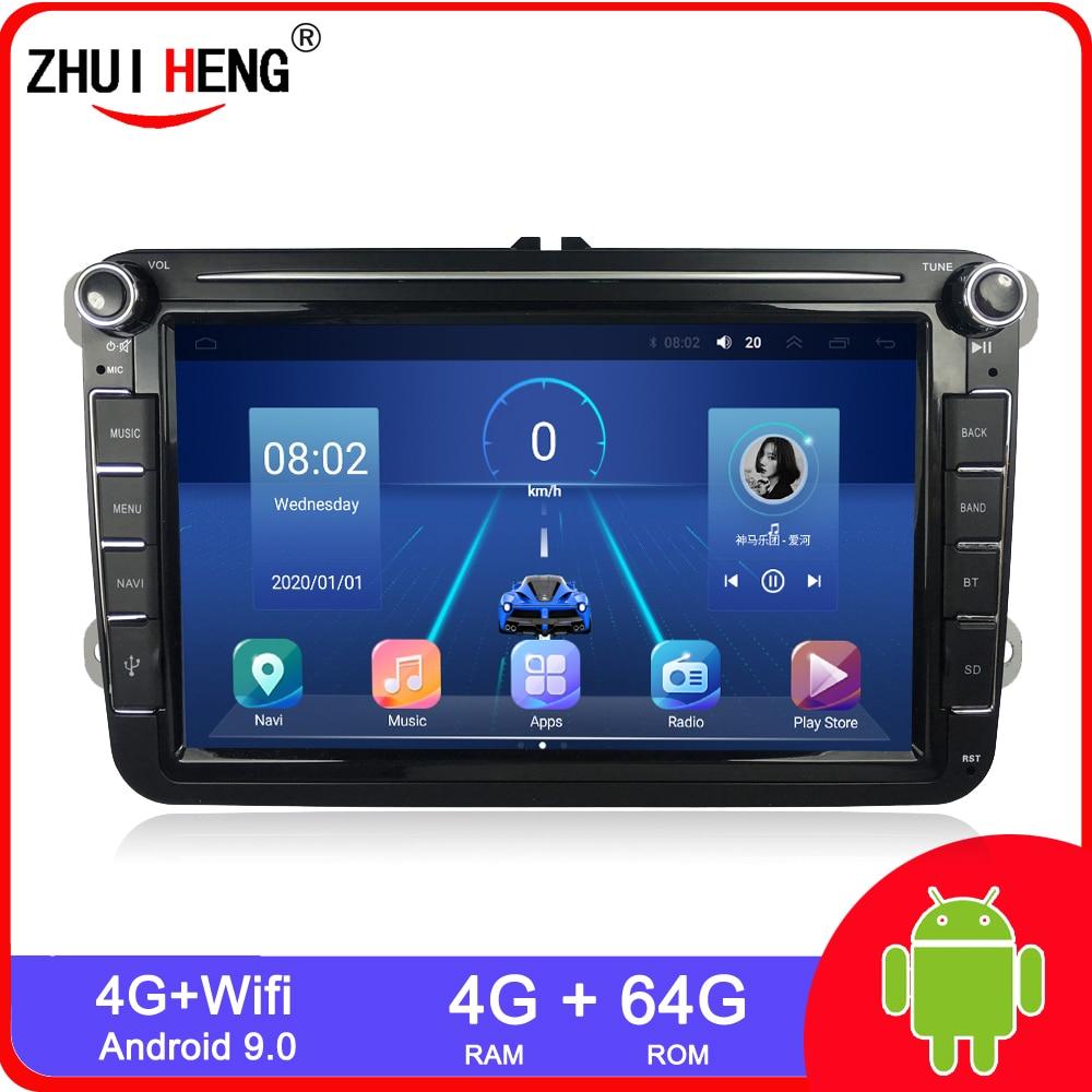 Android 10.0 2 Din For VW Volkswagen Golf 7 Polo Passat b7 b6 SEAT leon Skoda Car radio Multimedia Video Player gps navigation
