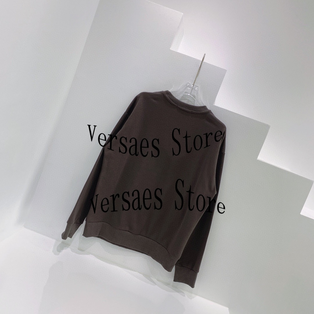 2021 luxury design color star printing fashion women's long sleeve top temperament round neck versatile loose casual sweater enlarge