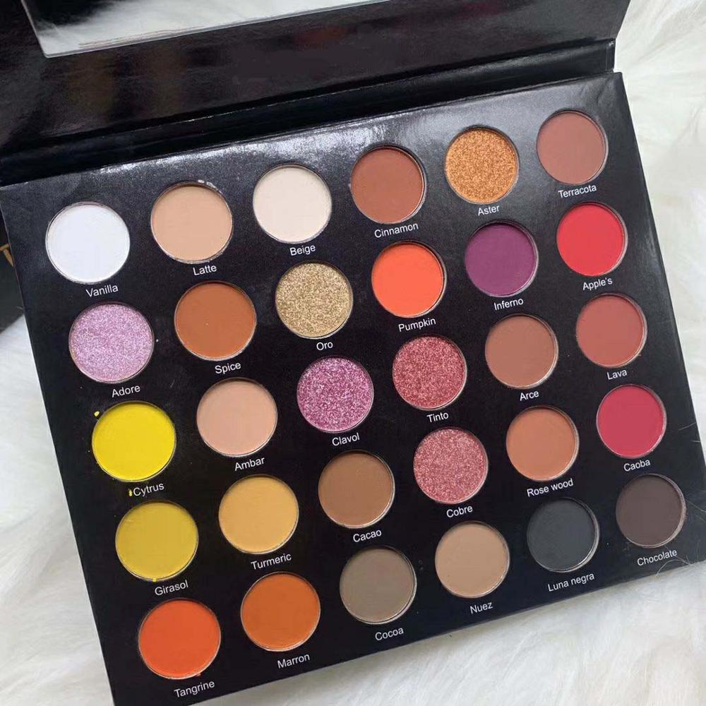 Professional 30 Colors Matte & Shimmer Eye shadow palette makeup easy to wear popular colors eye pressed powder 48pcs/lot DHL