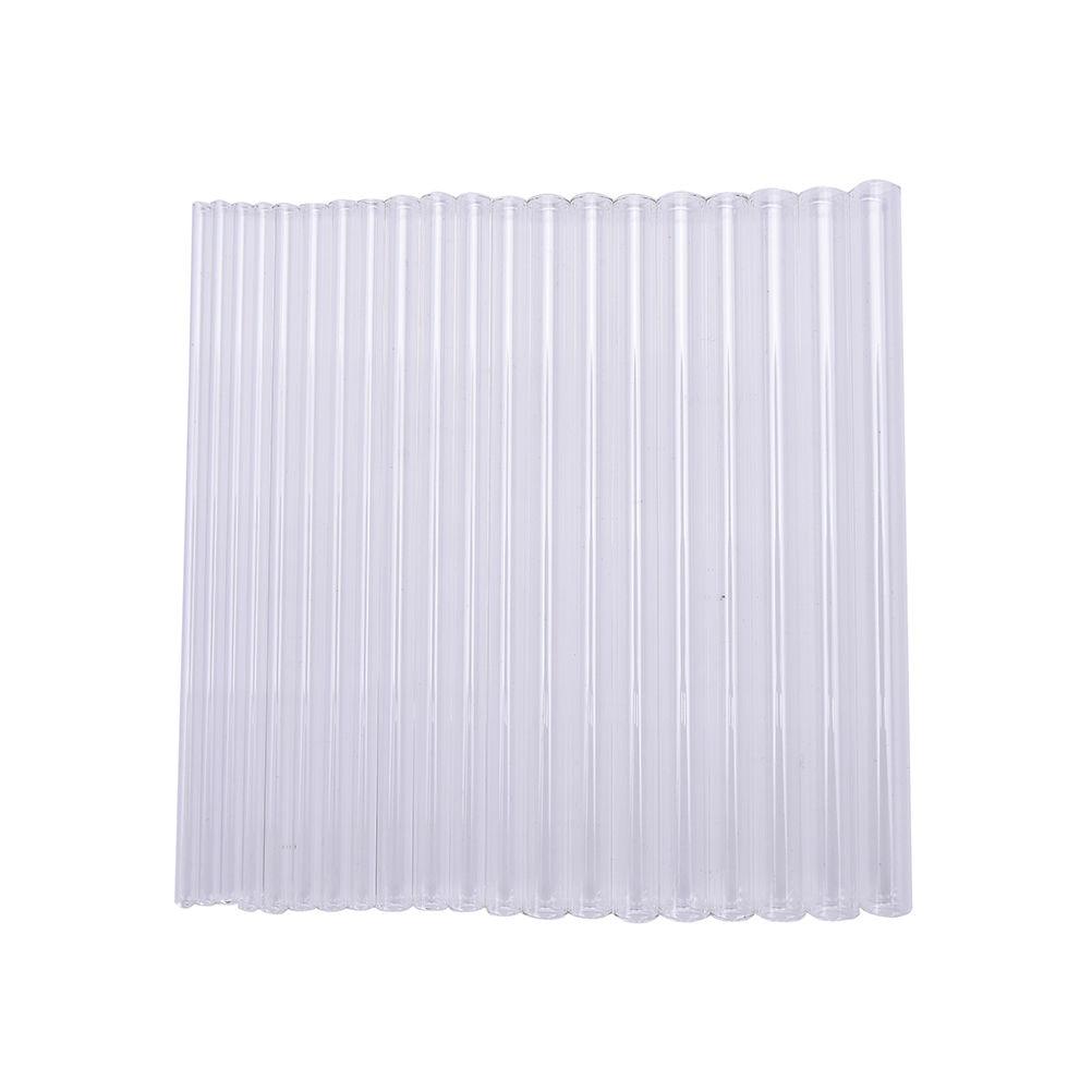 Многоразовые питьевые соломинки из прозрачного стекла, 10 мм, диаметр 6 мм/7 мм/10 мм/12 мм/14 мм