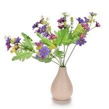 1 pièces orchidées artificielles faux fleur maison chambre Decorn fleurs & couronnes mariage maison fête Decoratio 6 couleurs