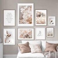 scandinavian nature plant flower canvas painting nordic poster landscape dandelion print wall art picture living room home decor