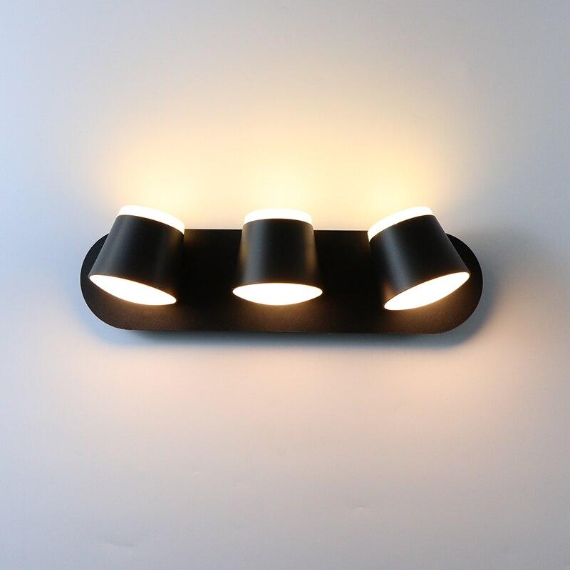 مصباح حائط داخلي 360 درجة قابل للتعديل وحدة إضاءة LED جداريّة مصباح الممر الجدار الشمعدان غرفة المعيشة فندق غرفة نوم أضواء 8 واط 16 واط 24 واط