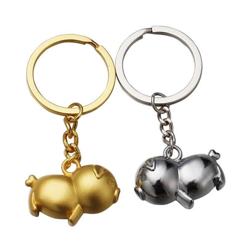 Cute Pig Keychain Car Pendant Motorcycle Accessories For Infiniti Q50 Cadillac Srx Toyota Camry 2018 Suzuki Sx4 Key Ring Auto