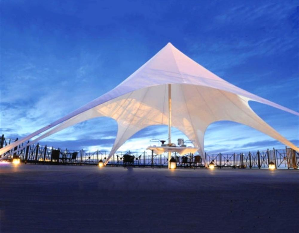 خيمة على شكل نجمة واحدة 6*12 م ، بولي كلوريد الفينيل والألمنيوم ، للحفلات الخارجية ، والمناسبات ، والزفاف ، وظل الشمس ، والمعارض الترفيهية