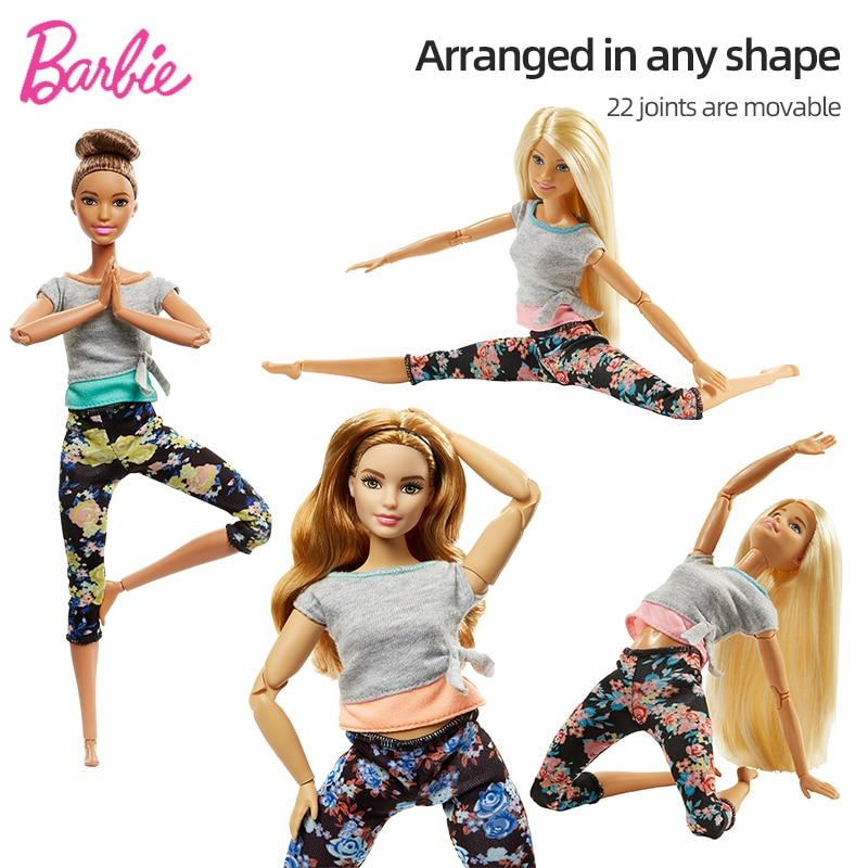 Barbie juguetes de marca 22 niñas puede mover el cuerpo yoga princesa infinito deportes yoga estilo de 30 cm de alto