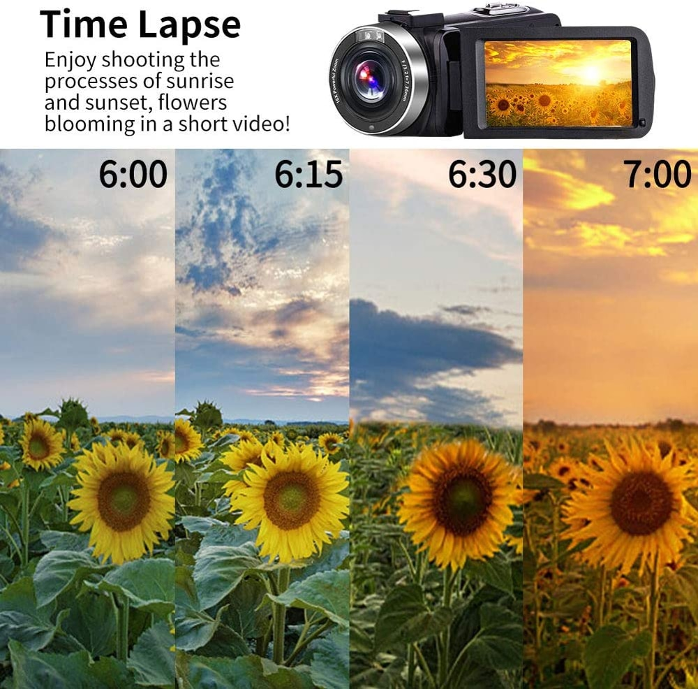 4K Digital Video Camcorder for Youtube Live Streaming WiFi 56MP Beauty Touch Screen Night Vision Vlogging Camera