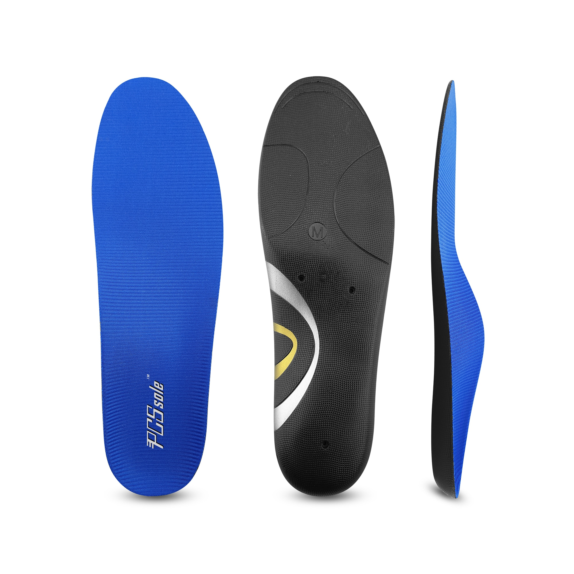 PCSsole Flat feet correction arch support plantar fasciitis heel pain men and women correction  insoles 125cc