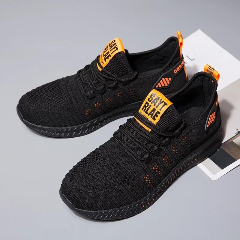 Sport baseball Men Shoes Mesh Breathable Men Sneakers New Cushioning Casual Balck Shoes Lightweight Zapatillas De Deporte