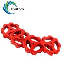 kingroon 4sets heat bed leveling spring knob m3 m4 screw nuts 3d printer print platform hot bed calibration leveling modules