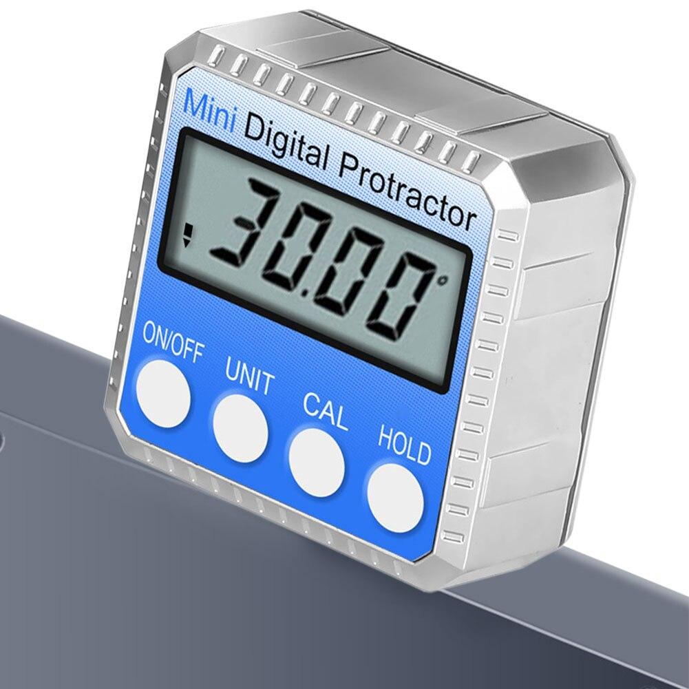 Ángulo buscador electrónico con imán herramienta de medición 360 regla de grado Mini Digital Protractor Universal LCD pantalla inclinómetro