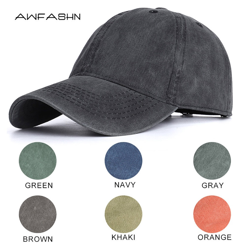 2020 High Quality Men Washed Cotton Baseball Cap Women Vintage Snapback Hat Adjustable Trucker Outdo