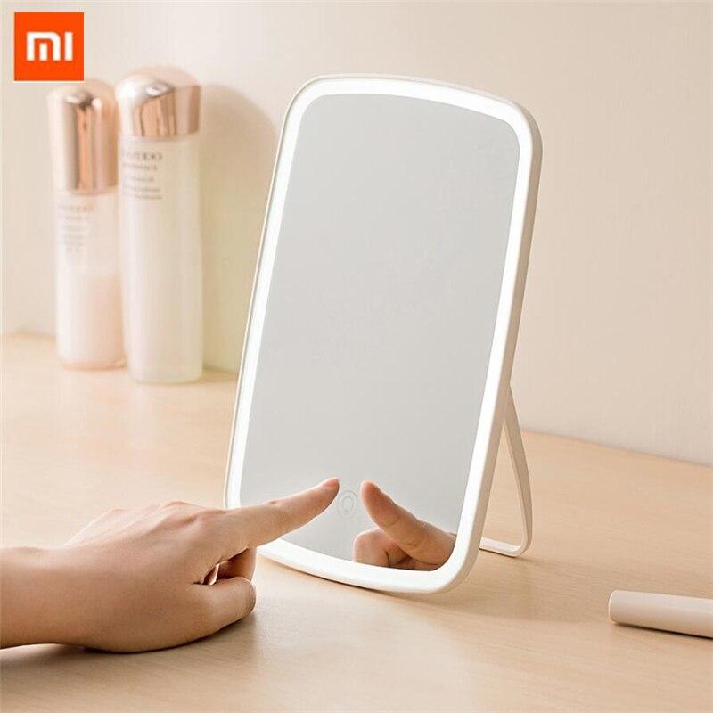 Xiaomi Mijia LED espejo de maquillaje control táctil LED luz natural relleno ángulo ajustable brillo luces batería larga 51