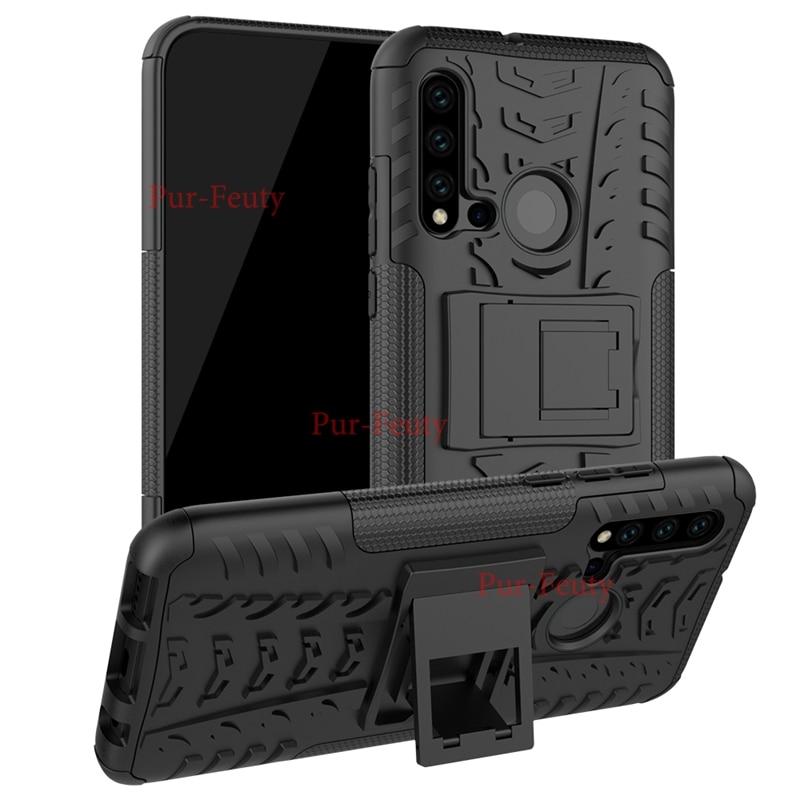 Funda armadura soporte para Huawei P20 Lite 2019 P30 Pro VOG-L29 Nova 5i funda híbrida resistente para Huawei P30 P20 Lite funda de silicona
