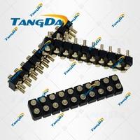 diameter:2mm height: 5.5 6.5 8mm DIP pogo pin connectors 20p 20pin Current pin Battery pin Test thimble probe female TANGDA T