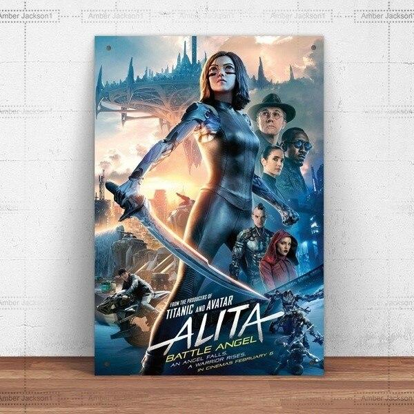 Металлический знак, настенный знак, настенная фотография, коллекция искусства, Alita Battle Angel, металлический жестяной знак, металлический знак
