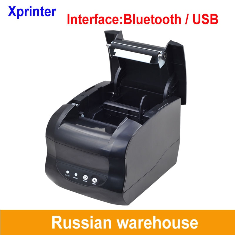 127mm/s usb or bluetooth Thermal label printer Thermal barcode printer Thermal receipt printer for 58mm or 80mm thermal paper cheap usb bluetooth serial pos58 thermal receipt bill ticket printer with cash box port support multiple languages