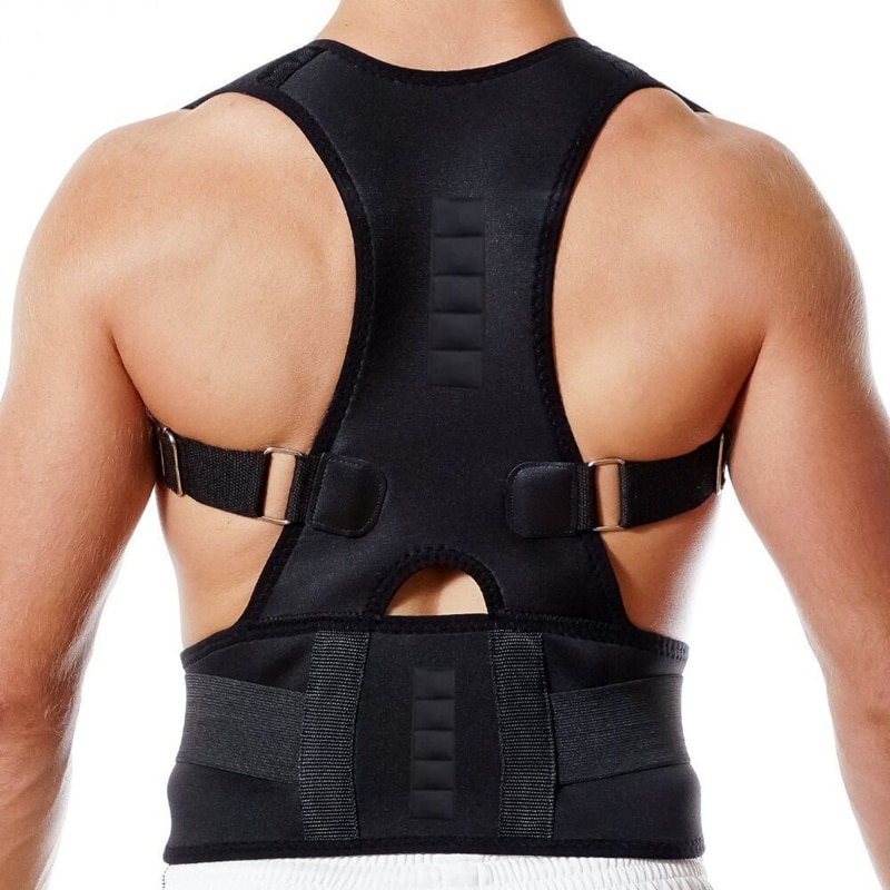Male Female Adjustable Magnetic Posture Corrector Corset Back Brace Back Belt Lumbar Support Straigh