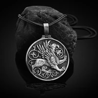 hot selling greek myth jewelry on the neck griffon charms pendant necklaces for man retro totem amulet mens chain necklace