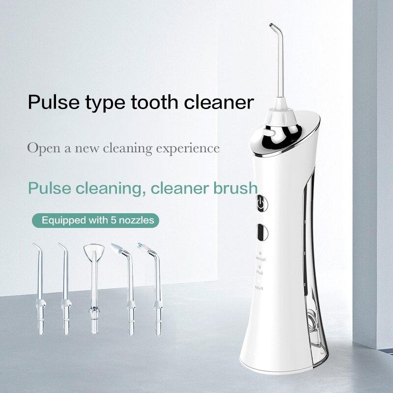 Oral Irrigator USB Rechargeable Water Flosser Portable Dental Water Jet 150ML Water Tank Waterproof Teeth Cleaner enlarge