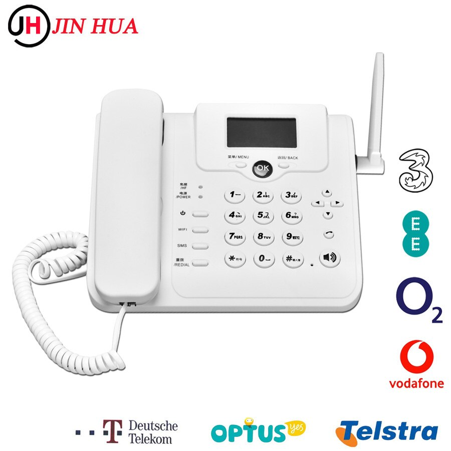 W101W Europe Asia Africa Unlocked 4G Wifi Router GSM Desk Telephone Volte LTE Dongle Modem Sim Card Hotspot Fixed Phone