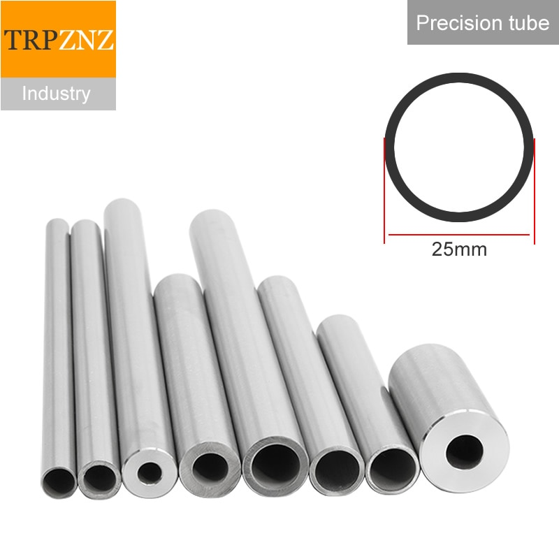 304 الفولاذ المقاوم للصدأ أنبوب الدقة الأنابيب ، القطر الخارجي 20 مللي متر ، ID10mm ، 50 سنتيمتر ، مع M12 x 1.75 مللي متر الداخلية موضوع ، inox الأنابيب
