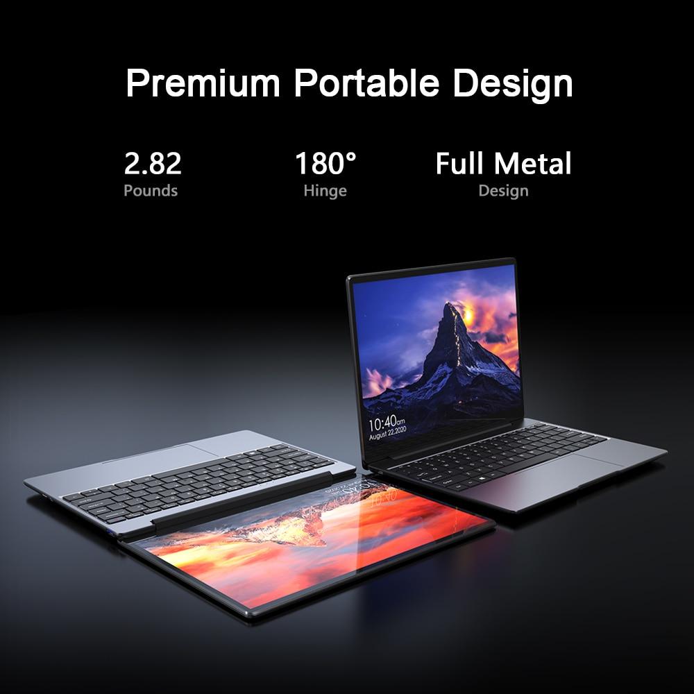 CHUWI GemiBook 2K IPS Screen 13inch Laptop Intel Celeron J4115 Quad Core 12GB RAM 256GB SSD  Backlit keyboard Windows10 system
