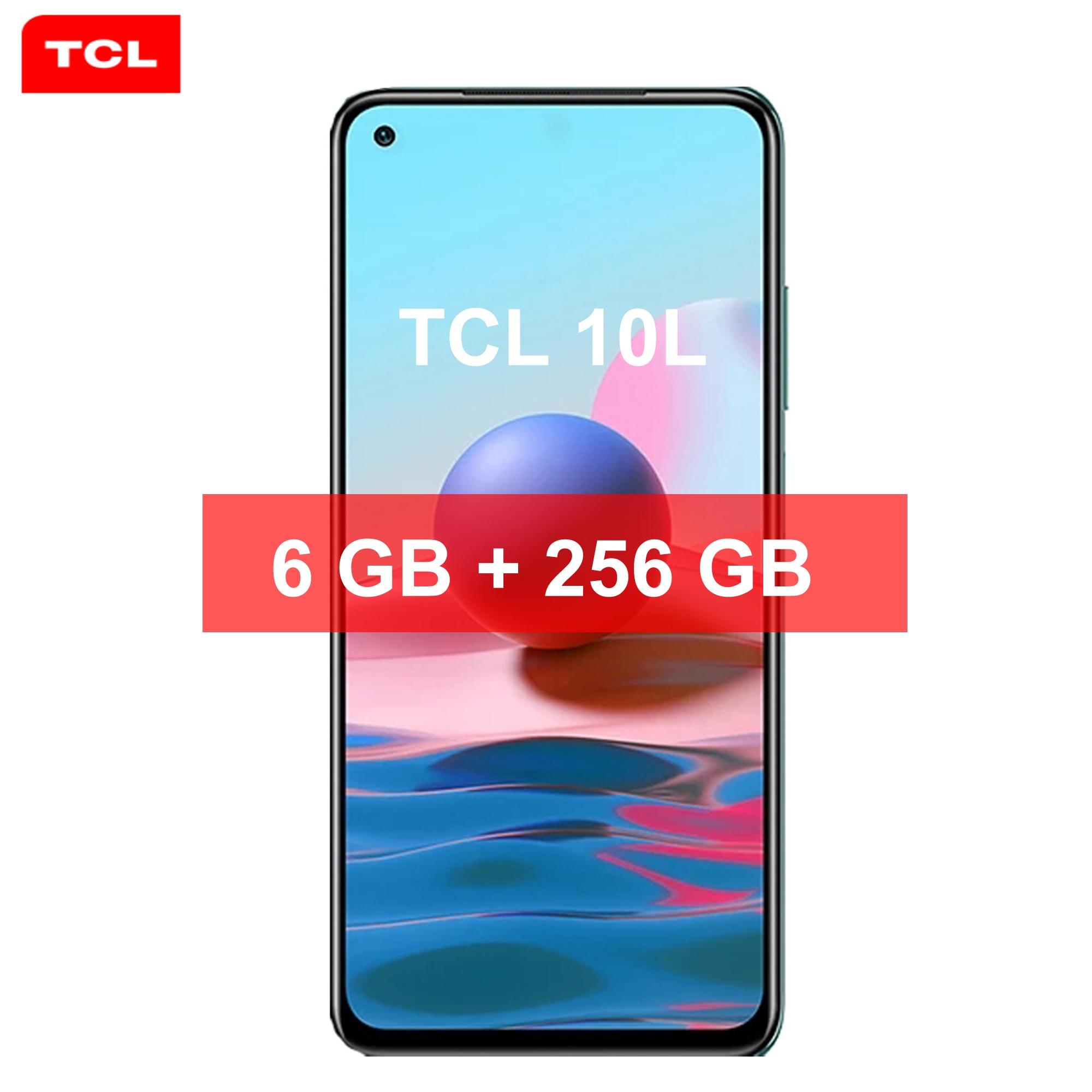 الهاتف الذكي TCL 10L رباعي الكاميرا NFC 6GB + 256GB 6.53