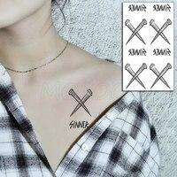 tattoo sticker cross nails letter sinner snag element body art makeup waterproof temporary women and men fake tatoo