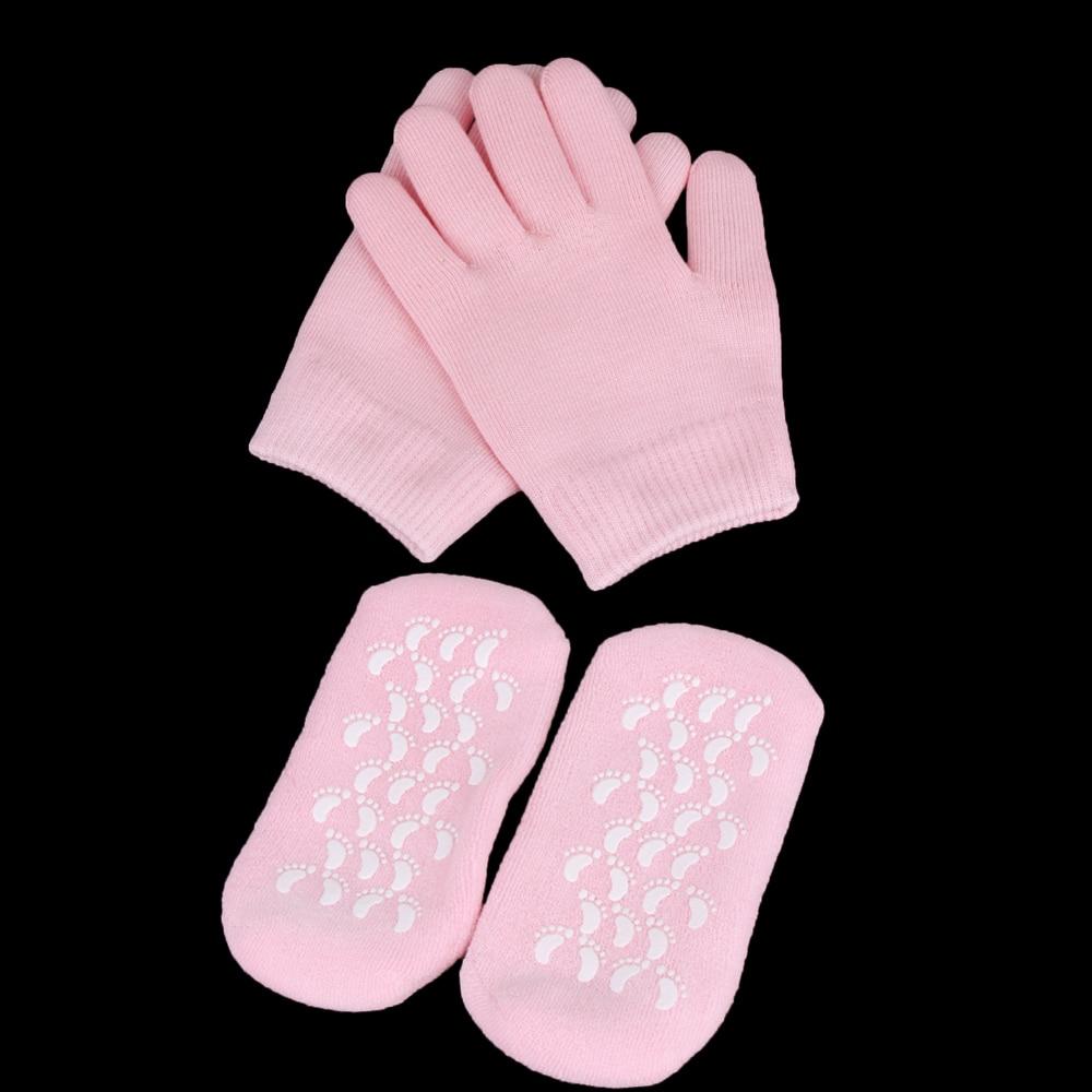 1 par reusável spa gel meias luvas hidratante branqueamento esfoliante suave mãos pés cuidados para adulto mão máscara
