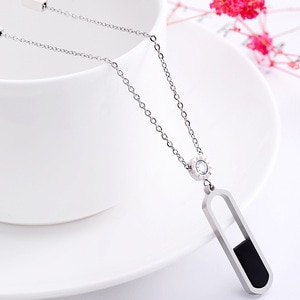 CASHOU49 Titanium steel long section round sweater chain girl ellipse non-fading necklace for women
