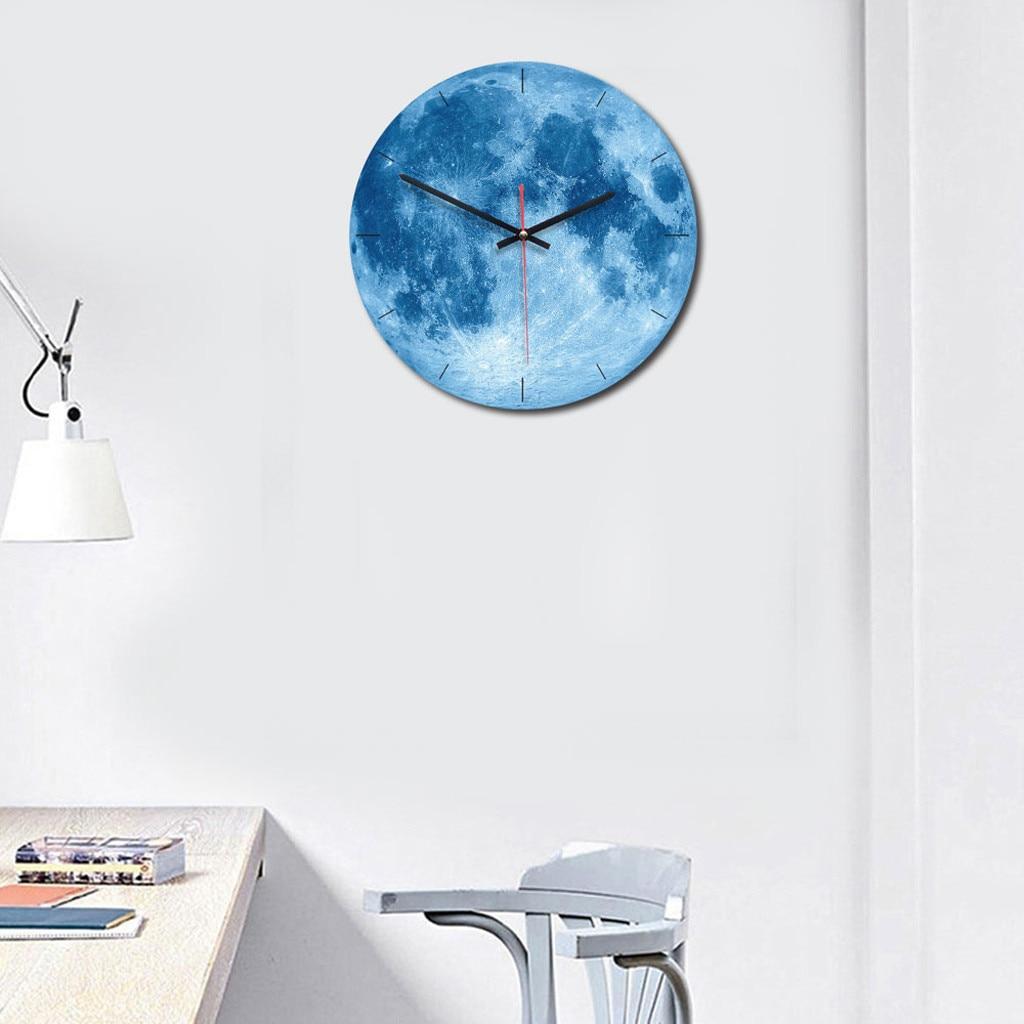 Creative Planet Large Black Hole Photo Wall Clock Living Room Removable In The Dark Clocks 3D часы настенные#GH
