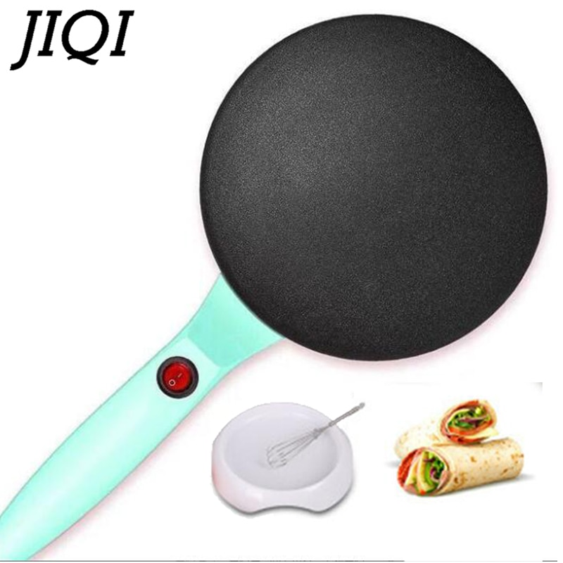 JIQI fabricante eléctrico de crepé hornear pasteles Pan antiadherente household cocinar tortitas máquina China primavera rollo galleta Pizza plancha