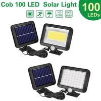 Уличный светодиодный светильник на солнечной батарее, садовый светильник с пассивным ИК датчиком движения, настенный точесветильник ильни...