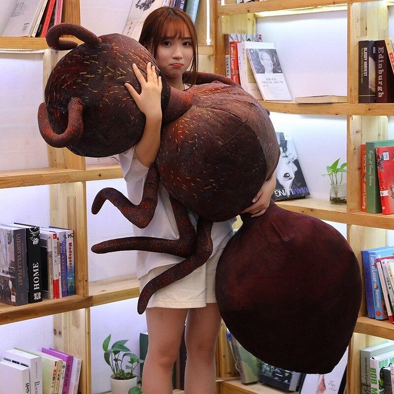 Encantadora divertido simulación hormiga de peluche de juguete Emmet muñeca de decoración del hogar sofá almohada cojín amigo niño regalo de Navidad de los niños