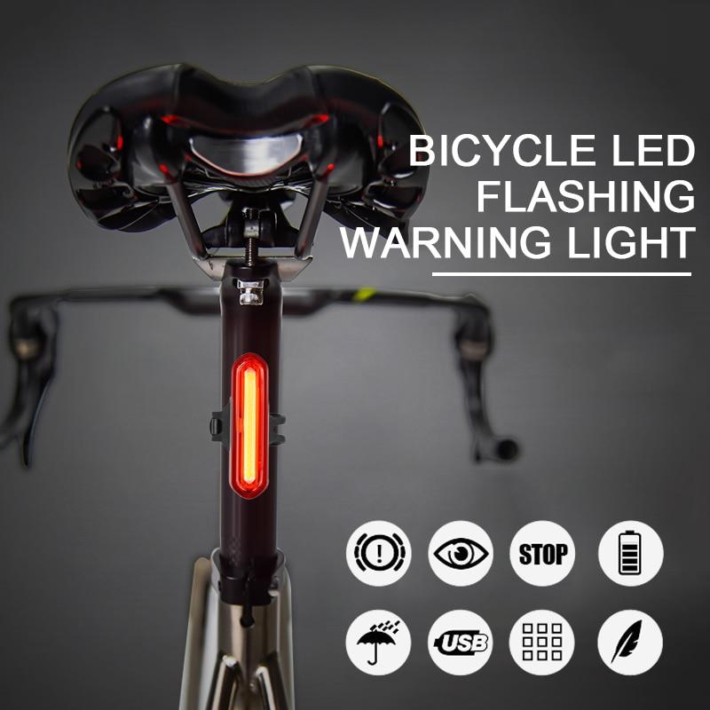 Luz traseira para bicicleta à prova d água, led, recarregável, luz para bicicleta, para mountain bike, tslm1