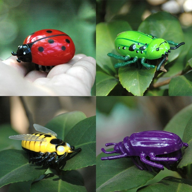 Battle Bugs en 4 diseños, mini juguetes a pilas para gatos, mariquita, mariquita, Hornet, escarabajo, Gato de juguete nuevo