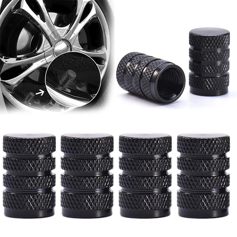 Nuevo 4 Uds Durable de aluminio Llanta de Aleación llanta con reborde tapones para vástago de válvula de coche camión de piezas de automóviles de diseño único