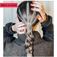 european and american fashion new wig extension chain silver plated fringe hair chain headdress chain clip temperament female