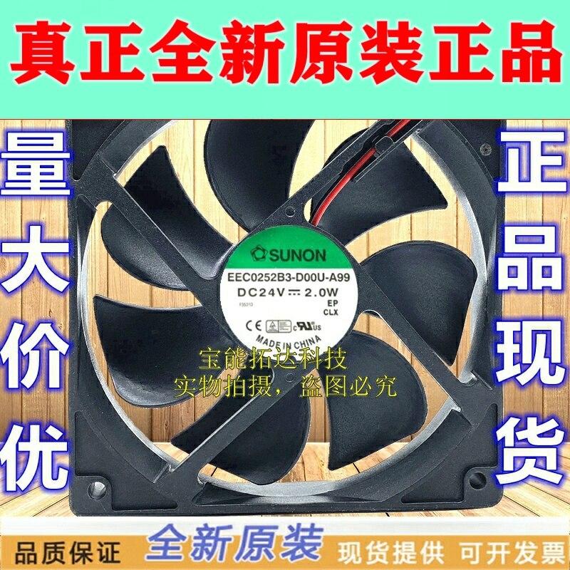 Freeshipping EEC0252B3-D00U-A99 Neue 12025 24V 2,0 W 12cm Converter Fan