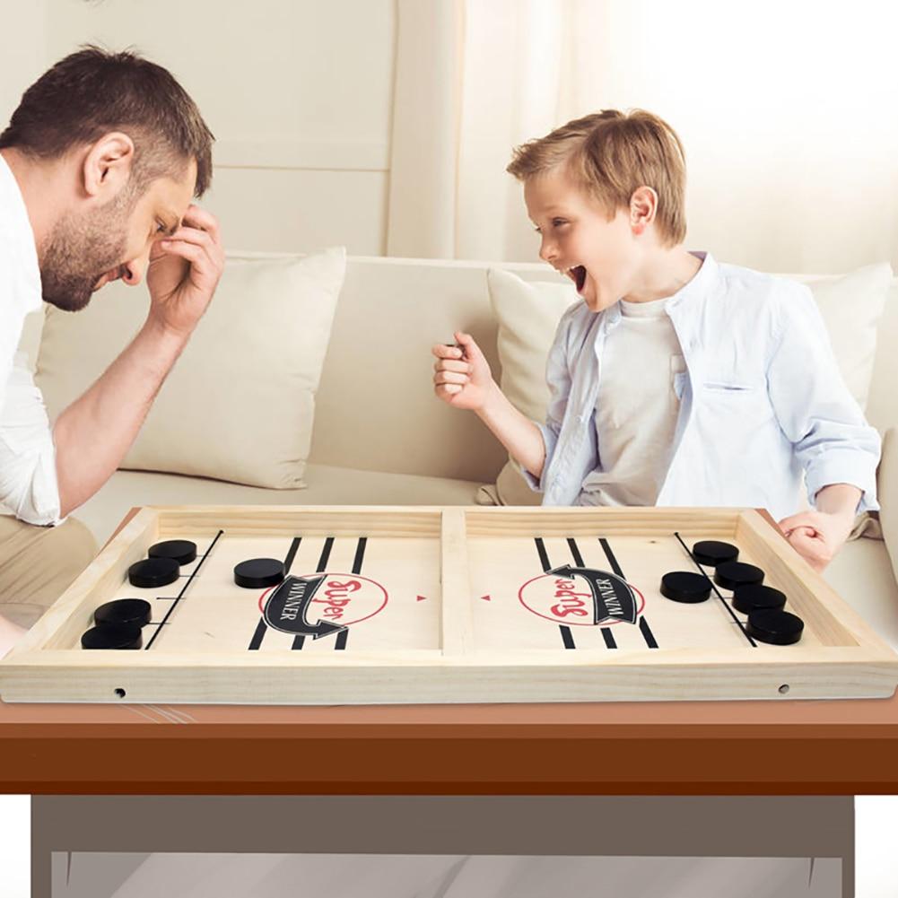 لعبة لوحية تعليمية للأطفال والكبار ، لوحة ألعاب محمولة من Puck مع سلسلة حبال سريعة ، للأطفال والكبار