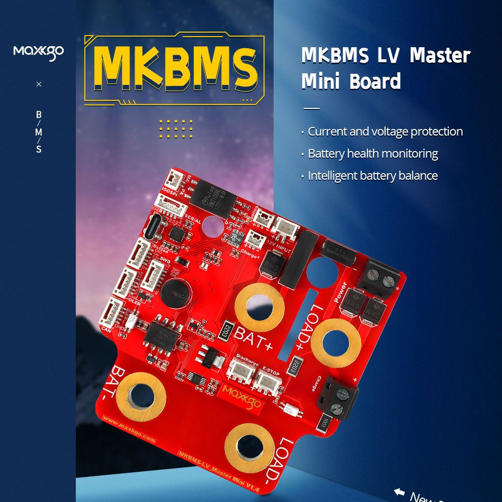 BMS LV1.4 Master Board 150V Compatible with the ENNOID-BMS-TOOL Battery Management System for ESK8 /Electric robot | MKBMS