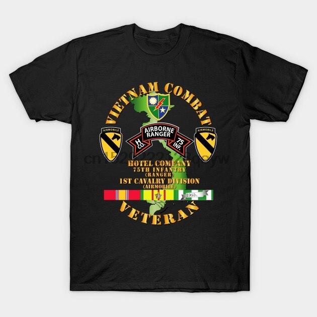 Camiseta para hombre Vietnam combate veterano w H Co 75th Inf Ranger 1ª Rav Div camiseta para mujer