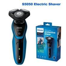 S5050 Philips rasoir électrique AquaTouch professionnel avec 3 têtes rotatives avec système de Protection de la peau rasoir pour hommes