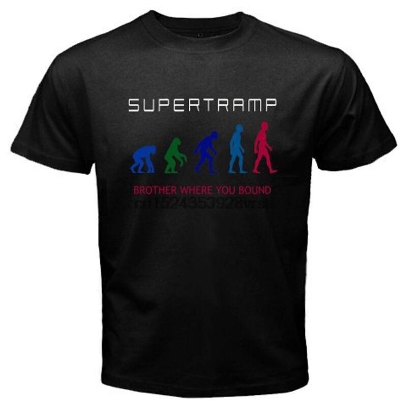 Новая мужская черная футболка SUPERTRAMP Brother Where You Bound Rock Band Размер S-3XL